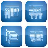 Il cobalto 2D ha quadrato le icone impostate: Hotel Immagini Stock Libere da Diritti