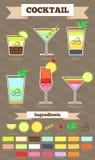 Il cocktail popolare ha messo 2 Immagini Stock