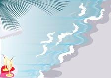 Il cocktail su una spiaggia Fotografia Stock Libera da Diritti