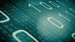 Il codice binario dell'astrazione numera il grafico di moto, concetto cyber di sicurezza illustrazione vettoriale