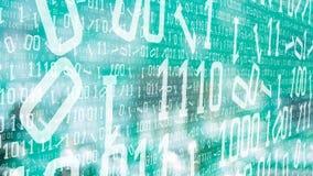 Il codice binario numera l'attacco cyber di sicurezza illustrazione vettoriale