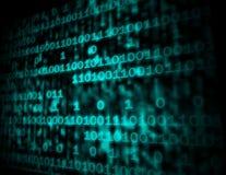 Il codice Copyspace della matrice mostra i numeri di Digital che programmano Backgrou Fotografia Stock