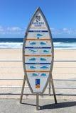 Il codice dei surfisti Fotografia Stock Libera da Diritti