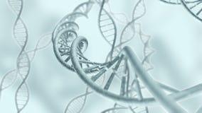 Il codice genetico del DNA incaglia la rappresentazione 3D Immagine Stock Libera da Diritti