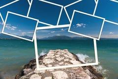 Il collage dell'immagine alla polizia Italia del lago Immagini Stock Libere da Diritti