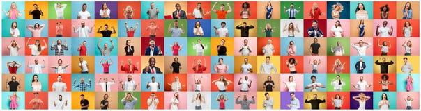 Il collage della gente sorpresa fotografia stock