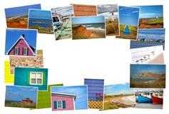 Il collage delle immagini da magdalen l'isola nel Canada Fotografie Stock