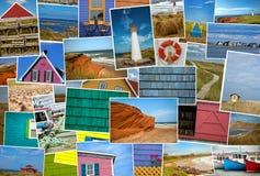 Il collage delle immagini da magdalen l'isola nel Canada Immagine Stock Libera da Diritti