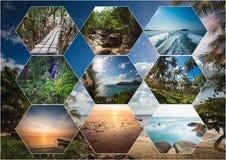 Il collage delle immagini della Tailandia Immagini Stock Libere da Diritti