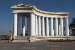 Il Colonade del palazzo di Vorontsov a Odessa immagini stock libere da diritti