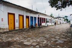 Il coloniale alloggia Paraty Rio de Janeiro Brasile Fotografia Stock Libera da Diritti