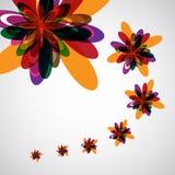 Il colore astratto fiorisce la priorità bassa Fotografie Stock