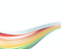 Il colore astratto ha isolato il fondo delle onde Fotografie Stock