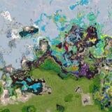 Il colore astratto spruzza royalty illustrazione gratis