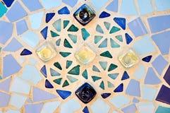 Il colore copre di tegoli il mosaico. Fotografia Stock