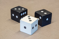 Il colore del cubo in bianco e nero Fotografia Stock