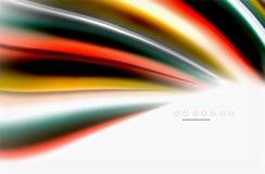 Il colore dell'arcobaleno ondeggia, fondo astratto vago vettore royalty illustrazione gratis