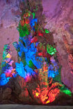 Il colore della caverna della corona, Guilin, Cina Immagine Stock
