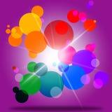 Il colore della sfera rappresenta la bolla Ring And Abstract illustrazione vettoriale