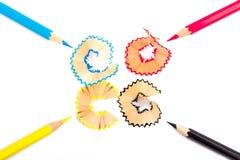 Il colore disegna a matita il cmyk Immagini Stock