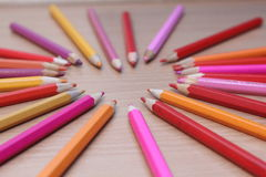 Il colore disegna a matita l'immagine Immagine Stock Libera da Diritti