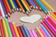 Il colore disegna a matita l'immagine Fotografia Stock Libera da Diritti