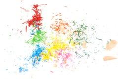 Il colore disegna a matita la polvere Fotografia Stock Libera da Diritti