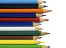 Il colore disegna a matita la priorità bassa immagine stock libera da diritti