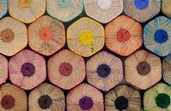 Il colore disegna a matita la priorità bassa fotografia stock