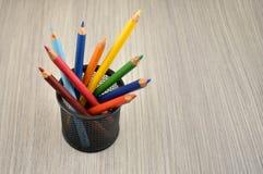 Il colore disegna a matita le immagini di riserva Immagine Stock Libera da Diritti