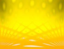 Il colore e la sfuocatura gialli osservano il fondo astratto con la linea effetto Immagini Stock