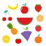 Il colore fruttifica icona isolata su fondo Pittogramma piano moderno, Fotografia Stock