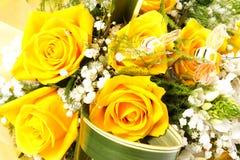 Il colore giallo è aumentato Immagini Stock Libere da Diritti