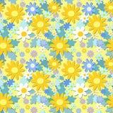 Il colore giallo fiorisce il reticolo senza giunte Immagine Stock Libera da Diritti