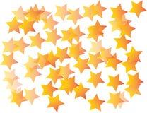 Il colore giallo Stars la priorità bassa Fotografia Stock Libera da Diritti