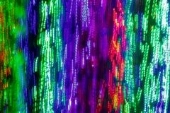 Il colore ha condotto le luci e il bokeh Fotografie Stock