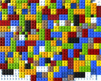 Il colore Lego ostruisce il piano Immagini Stock Libere da Diritti