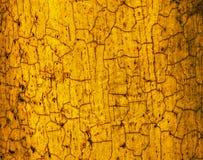 Il colore marrone giallo crackled struttura fotografia stock libera da diritti
