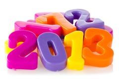 Il colore numera l'anno 2013 di esposizioni Fotografia Stock