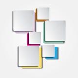 Il colore quadra il fondo Immagine Stock