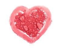 Il colore rosa arrossisce con cuore Fotografia Stock Libera da Diritti