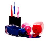 Il colore rosa arrossisce con la spazzola ed il cuore Immagini Stock