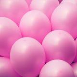Il colore rosa balloons la priorità bassa Immagine Stock Libera da Diritti
