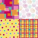Il colore rosa caldo di divertimento quadra combinato Immagini Stock