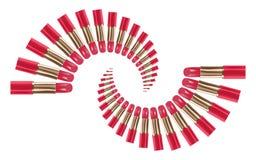 Il colore rosa del rossetto sistema il tipo a spirale insieme Immagine Stock Libera da Diritti