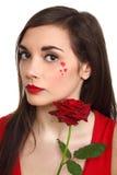 Il colore rosso è aumentato a disposizione Fotografie Stock