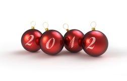 Il colore rosso bolle decorazione 2012 Fotografia Stock Libera da Diritti