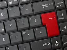 Il colore rosso generico della tastiera di calcolatore entra nel tasto Immagine Stock Libera da Diritti