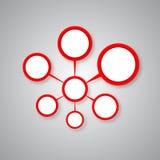 Il colore rosso ha connesso il cerchio Fotografia Stock Libera da Diritti