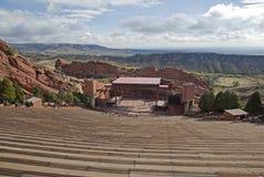 Il colore rosso oscilla il Amphitheater immagini stock